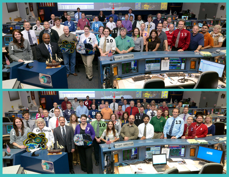 STS-134/ULF6 Orbit 4 Flight Control Team photo in WFCR with Flight Director Rick LaBrode. Photo Date: May 25, 2011. Location: Building 30 south - WFCR. Photographer: Robert Markowitz